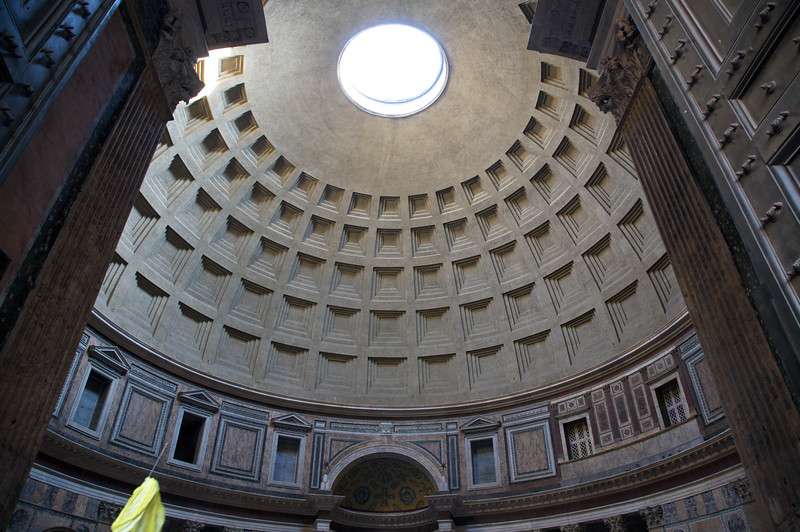Inside ceiling of the Pantheon