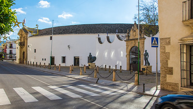 The bullfighting arena from the outside