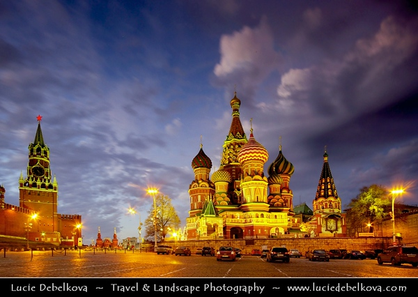 Europe - Russia - Россия - Rossiya - Moscow - Москва - Moskva - UNESCO World Heritage Site - Historical area around Kremlin, Red Square & St Basil's Basilica - One of the most beautiful Russian Orthodox monuments