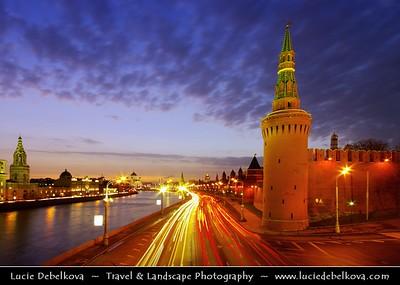 Europe - Russia - Россия - Rossiya - Moscow - Москва - Moskva - UNESCO World Heritage Site - Historical area around Kremlin & Red Square along banks of  Moskva River - Москва река - Moskva Reka