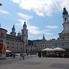 Residenzplatz Square & Residence Fountain, and Salzburger Dom