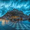 """""""Blue Hour"""" rush hour at Place Saint-Germain-des-Prés ~ Paris, France"""