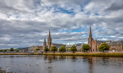 Steeples Across the River Ness
