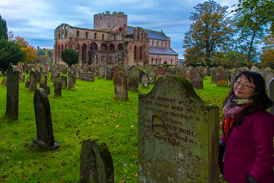 The cemetery outside the Lanercost Priory