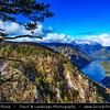 Europe - Serbia - Republika Srbija - Tara National Park - Perućac Lake and Drina River Canyon seen from Banjska stena viewpoint -  Видиковац Бањска стена
