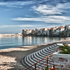 File Ref: 2012-10-25 Cefalu 614<br /> Beach at the core of Cefalu, a popular resort town, Sicily, Italy