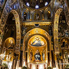 File Ref: 2012-10-19 Palermo NX5 095<br /> Capella Palatina, fusion of Arab,Norman,Byzantine, and Scilian art and architecture, Palermo, Sicily