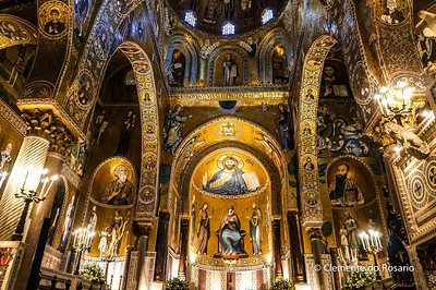 File Ref: 2012-10-19 Palermo NX5 095 Capella Palatina, fusion of Arab,Norman,Byzantine, and Scilian art and architecture, Palermo, Sicily