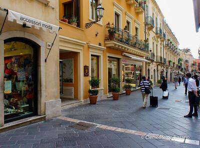 File Ref: 2012-10-22 Taormina NX5 467 1959 Chic boutiques along Corso Umberto I, Taormina, Sicily,Italy