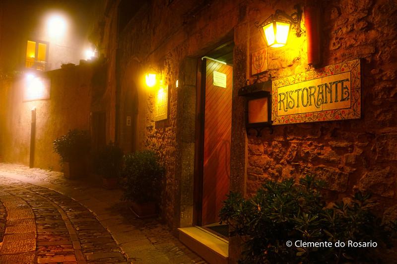 Fine dinning restaurant, La Pentolaccia, in Erice, Sicily