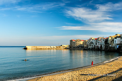File Ref: 2012-10-25 Cefalu 579 1890 1891 Beach at the core of Cefalu, a popular resort town, Sicily, Italy