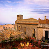 File Ref: 2012-10-26 Erice NX5 769 1978<br /> A view of Chiesa Madre tower from Hotel Elimo, Erice,Sicily