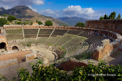 File Ref: 2012-10-22 Taormina NX5 424 1953 Taormina's fouth-century B.C. Greek theatre, Teatro Greco, Sicily