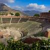 File Ref: 2012-10-22 Taormina NX5 424 1953<br /> Taormina's fouth-century B.C. Greek theatre, Teatro Greco, Sicily