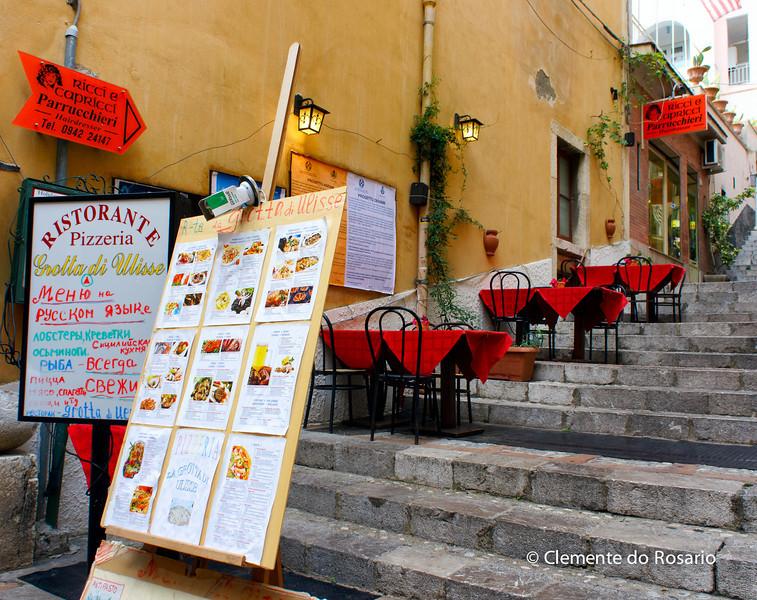 File Ref: 2012-10-22 Taormina NX5 468 1960<br /> Sidewalk cafe,Taormina, Sicily