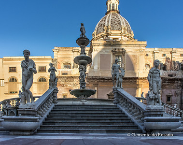 File Ref: 2012-10-19 Palermo NX5 145 Fontana Pretoria also known as Fountain of Shame, Palermo, Sicily, Italy