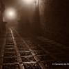 File Ref: 2012-10-26 Erice NX5 740 1975<br /> Medieval street shrouded in fog in Erice, Sicily, Italy