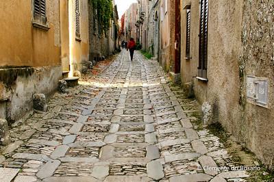 File Ref: 2012-10-26-Erice 717 1907 Narrow cobblestone street of Erice, Sicily,Italy