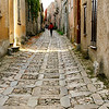 File Ref: 2012-10-26-Erice 717 1907<br /> Narrow cobblestone street of Erice, Sicily,Italy