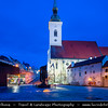 Slovak Republic - Bratislava - Capital City - St. Martin's Cathedral - Katedrála svätého Martina during Blue Hour - Twilight - Dusk