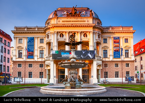 Slovak Republic - Bratislava - Capital City - Slovak National Theatre - Slovenské národné divadlo - Neo-Renaissance theatre building in the Old Town