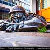 Slovak Republic - Bratislava - Capital City - Canal Worker Bronze Figure Statue By Viktor Hulik in Old Town Square