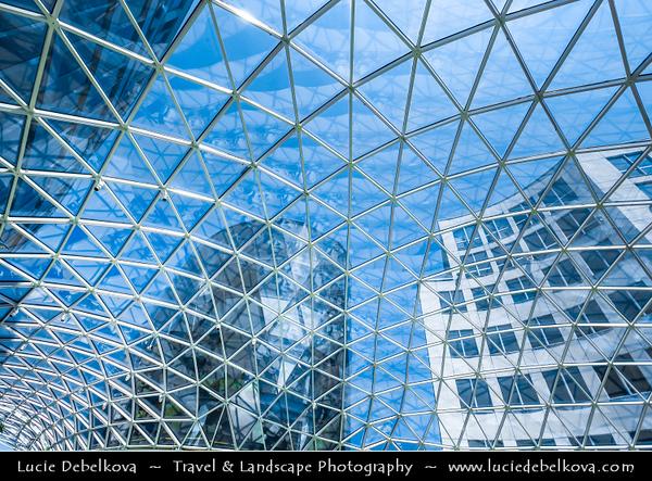 Slovak Republic - Bratislava - Capital City - Galleria Eurovea - All Layers of Eurovea - New Modern Shopping Mall