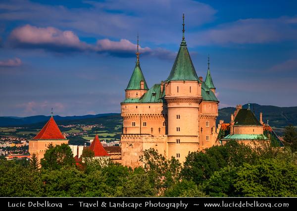 Europe - Slovakia - Slovak Republic - Slovensko - Bojnice Castle - Bojnický zámok - Fairy-tale castle - One of the most visited & most beautiful castles not only in Slovakia, but also in central Europe