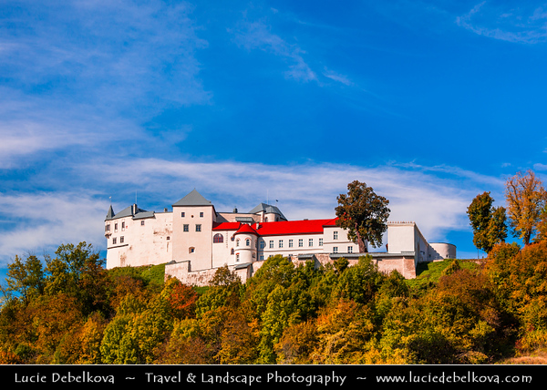 Europe - Slovak Republic - Slovensko - Central Slovakia - Ľupčiansky hrad - Slovenská Ľupča Castle - Lupciansky Castle - Hrad Ľupča - Historical Castle established in middle of 13th century, standing on hill of Low Tatras Mountains