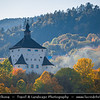 Europe - Slovak Republic - Slovensko - Central Slovakia - Banská Štiavnica - Banska Stiavnica - UNESCO World Heritage Site - Historic Town  in middle of immense caldera created by collapse of ancient volcano - Caldera is known as Štiavnica Mountains