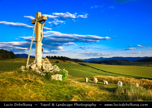 Europe - Slovak Republic - Slovensko - Eastern Slovakia - Spišská Kapitula - Kaplička sv. Kříže - Pilgrimage Baroque chapel of Holy Cross located in National Nature Reserve Sivá Brada famous for its remnants of geyser