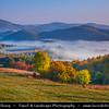 Europe - Slovak Republic - Slovensko - Central Slovakia - Banská Štiavnica - Banska Stiavnica - UNESCO World Heritage Site - Misty Autumn Morning