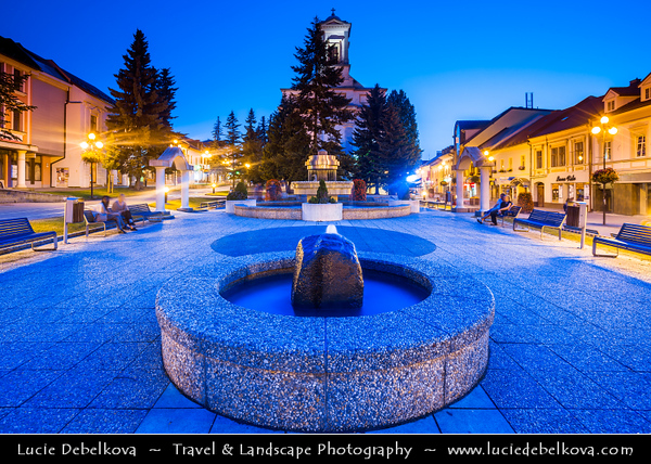 Europe - Slovakia - Slovak Republic - Slovensko - Poprad - City in northern Slovakia at foot of High Tatra Mountains famous for its picturesque historic centre and as holiday resort