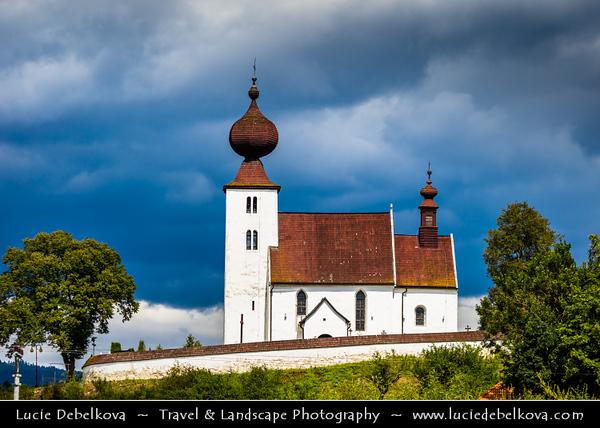Europe - Slovak Republic - Slovensko - Eastern Slovakia -  Low Tatra - Nizke Tatry - Žehra - Holy Spirit church - Roman-Catholic Holy Spirit church in Žehra - UNESCO World Cultural and Natural Heritage