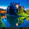 Europe - Slovakia - Slovak Republic - Slovensko - Bojnice Castle - Bojnický zámok - Fairy-tale castle - One of the most visited & most beautiful castles not only in Slovakia, but also in central Europe - Dusk - Twilight - Blue Hour