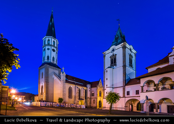 Europe - Slovak Republic - Slovensko - Eastern Slovakia - Levoča - UNESCO World Heritage Site - Historical town with well preserved town wall, Renaissance church with highest wooden altar in World & many other Renaissance buildings