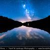 Europe - Slovak Republic - Slovensko - Eastern Slovakia - Vihorlat Protected Landscape Area - Sea Eye lake - Morské oko - Veľké Vihorlatské jazero - Vihorlat Mountains national nature reserve - CHKO Vihorlat - Night Sky