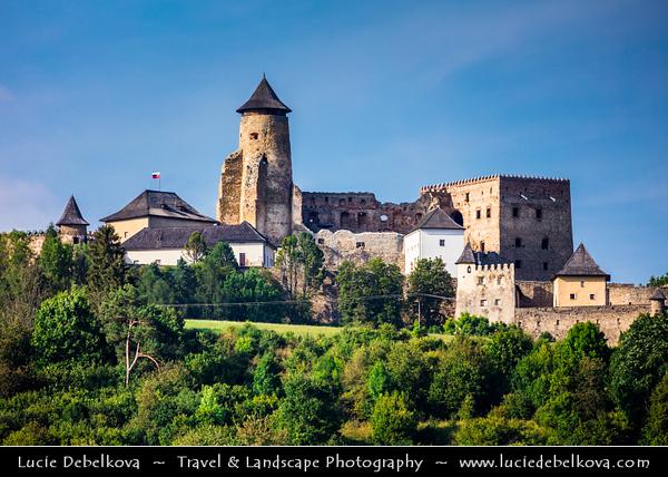 Europe - Slovak Republic - Slovensko - Eastern Slovakia - Prešov Region - Stará Ľubovňa - Ľubovňa Castle - Ľubovniansky hrad - Historical castle built at turn of 13th & 14th century on limestone cliff of 711 m over Stará Ľubovňa town