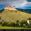 Europe - Slovak Republic - Slovensko - Eastern Slovakia - Košice Region - Krásna Hôrka Castle - Historical castle built on hilltop overlooking Krásnohorské Podhradie village