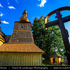 Europe - Slovak Republic - Slovensko - Eastern Slovakia - Prešov Region - Svidník district - Miroľa - Drevený chrám Ochrany Presv. Bohorodičky - Greek Catholic wooden church of the Protection of the Most Holy Mother of God - Traditional folklore architecture