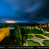 Europe - Slovak Republic - Slovensko - Eastern Slovakia - Spišská Kapitula - UNESCO World Heritage Site - Area above Spišské Podhradie town - Night sky during heavy storm weather