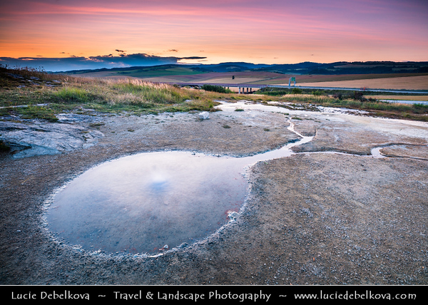 Europe - Slovak Republic - Slovensko - Eastern Slovakia - Spisskie Podhradie - Spišská Kapitula - National Nature Reserve Sivá Brada - Geyser of mineral water
