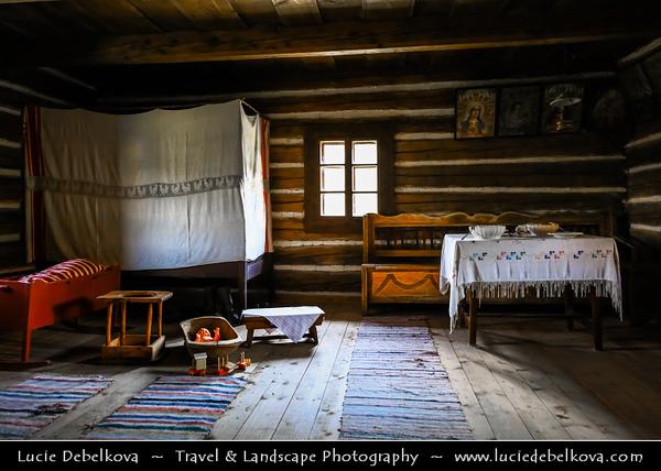 Europe - Slovak Republic - Slovensko - Eastern Slovakia - Prešov Region - Svidník - Museum of Ukrainian culture - Skanzen & Open-air museum with many houses & other buildings showing folk regional architecture