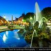Europe - Slovak Republic - Slovakia - Slovensko - Kosice - Košice - Biggest city in eastern Slovakia - European Capital of Culture 2013 - Historical City Center - Zodiac Fountain in front of National Theater - Narodni Divadlo