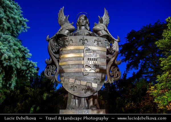 Europe - Slovak Republic - Slovakia - Slovensko - Kosice - Košice - Biggest city in eastern Slovakia - European Capital of Culture 2013 - Historical City Center - Statue of Coat of Arms - Erb mesta Kosice