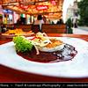 Europe - Slovak Republic - Slovakia - Slovensko - Kosice - Košice - Biggest city in eastern Slovakia - European Capital of Culture 2013 - Historical City Center - Traditional grilled cheese in cranberry sause