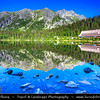 Europe - Slovakia - Slovak Republic - Slovensko - High Tatras - Vysoke Tatry - Highest mountain range of Eastern Europe - Popradské pleso - Glacier lake in Mengusovska dolina at 1,494 m / 4,901 ft above sea level