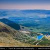 Europe - Slovakia - Slovak Republic - Slovensko - High Tatras - Vysoke Tatry - View from Lomnické Sedlo (2190 m) on the way to Lomnický štít mountain (2632 m)