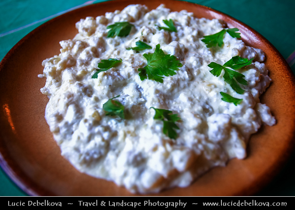 Europe - Slovakia - Slovak Republic - Slovensko - Hight Tatras - Vysoke Tatry - Bilikova Chata - Bilik Chalet - Cottage at 1255 m a.s.l -  Slovak specialty - Bryndzové halušky - Small potato dumplings-small gnocchi mixed with bryndza chees