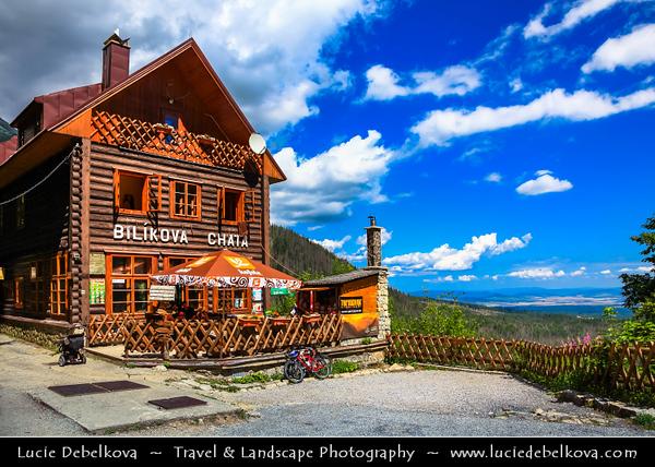 Europe - Slovakia - Slovak Republic - Slovensko - High Tatras - Vysoke Tatry - Bilikova Chata - Bilik Chalet - Cottage at 1255 m a.s.l - Mountain Hotel located on the south-facing slope of Slavkovský Peak